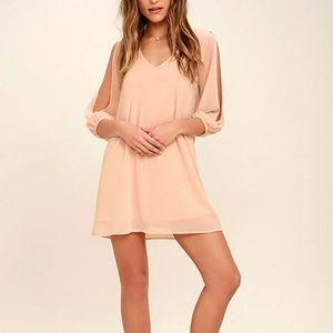 NWT Lulu's Shifting Dears Blush Pink Mini Dress